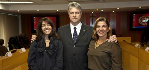 Procuradores de Justiça Maria Cristina Menezes de Azevedo, Pedro Elias Sanglard e Dirce Ribeiro Abreu