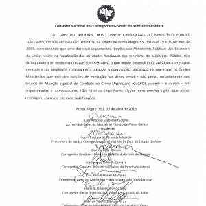 Carta de Porto Alegre. Fl. 001