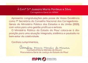 1ª secretária Jussara Maria